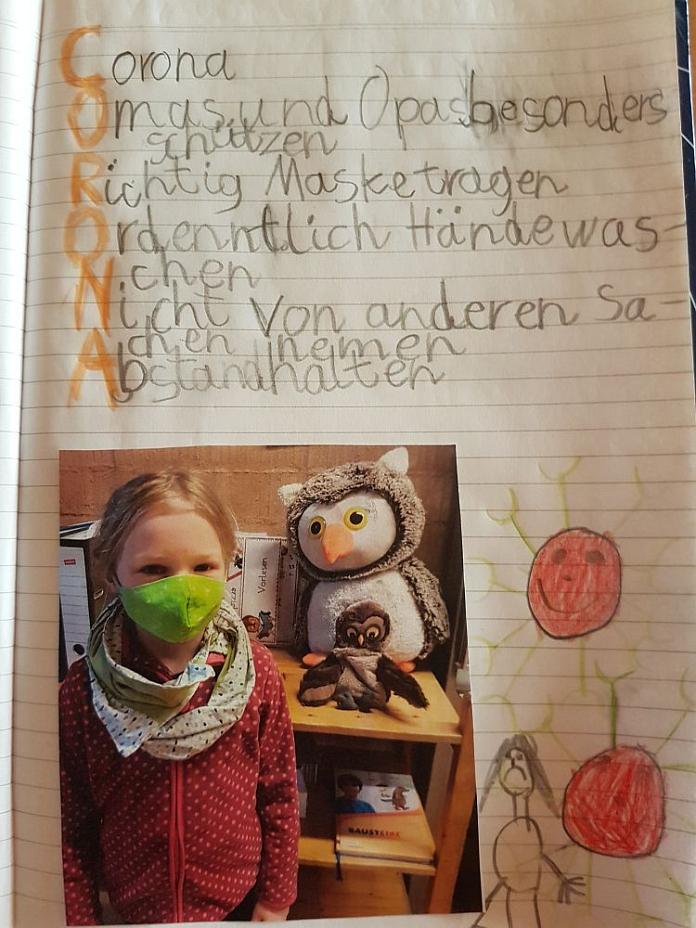 Lara über die Coronazeit©Regenbogenschule Stolzenau