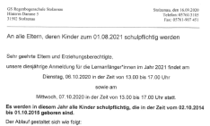 Schulanfängeranmeldung 21-22©Regenbogenschule Stolzenau